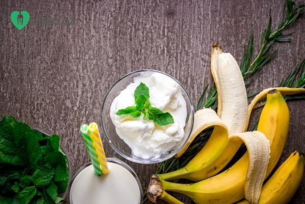 Banánový koktejl se zmrzlinou recept