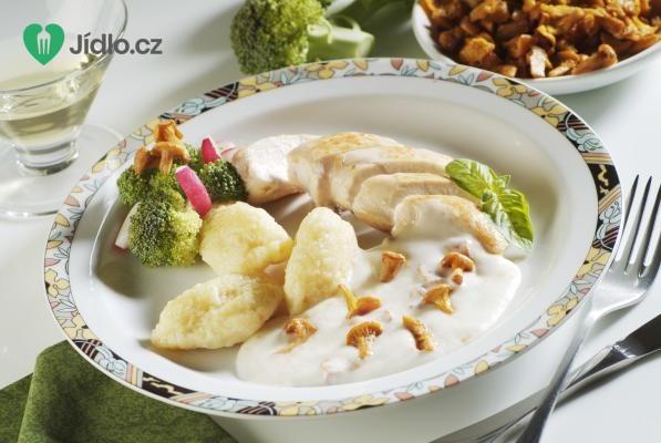 Bílá houbová omáčka recept