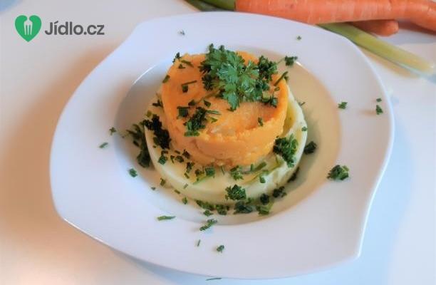 Bramborová kaše s květákovo-mrkvovým pyré recept