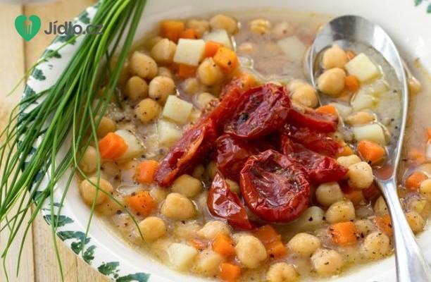 Cizrna se sušenými rajčátky (špenátem) recept