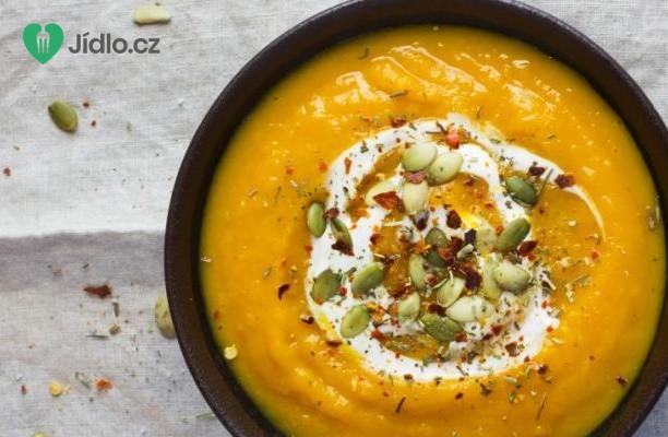 Dýňová polévka s chilli a smetanou recept