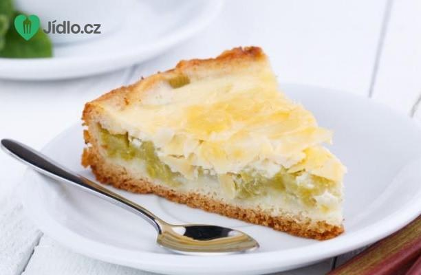 Drobenkový rebarborový koláč recept