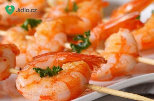 Grilované česnekové krevety recept
