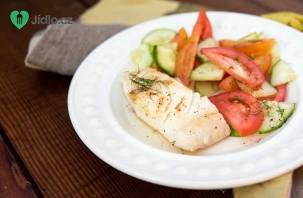 Grilovaný halibut a salsa z manga recept