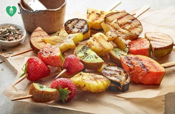 Grilované ovoce s medovou potírkou recept