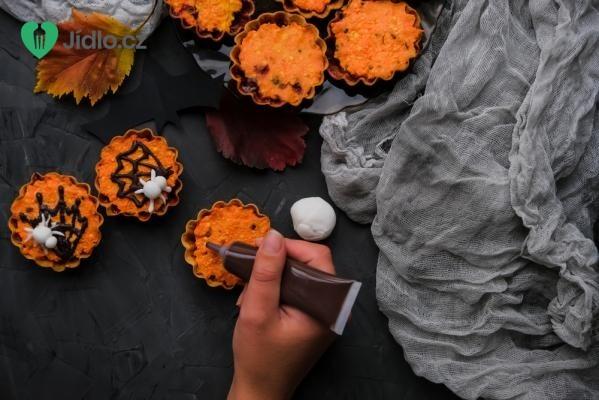 Halloweenské muffiny recept