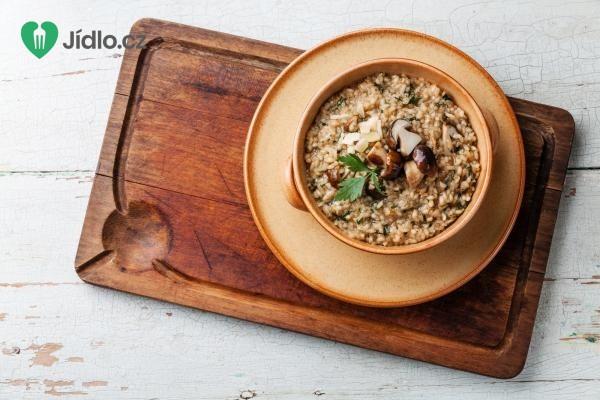 Houbové smetanové rizoto recept