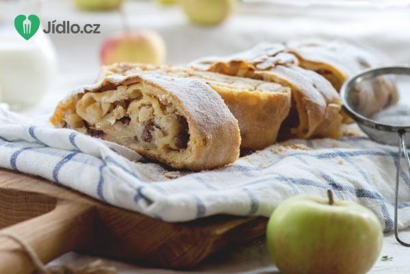 Jablečný závin z listového těsta recept