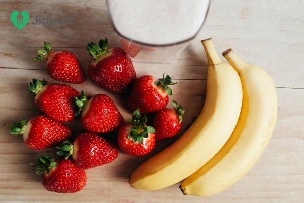 Jahodovo banánové smoothie recept