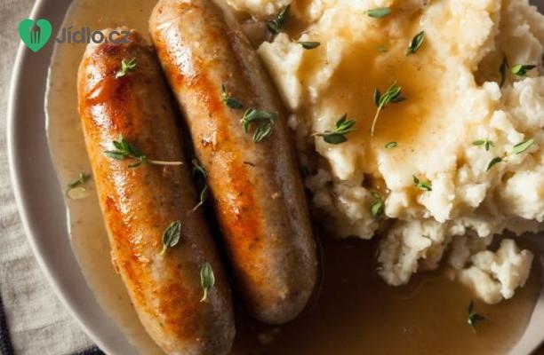 Klobása s bramborovou kaší recept
