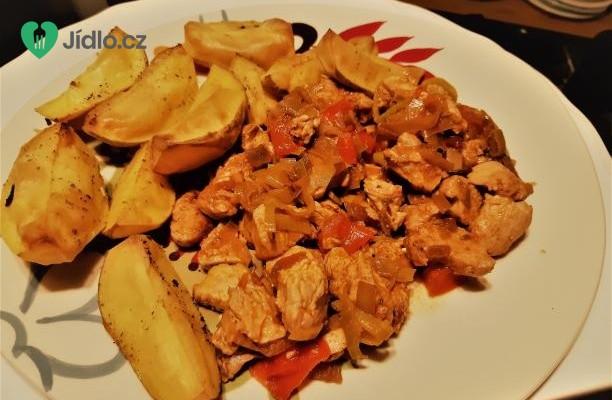 Krůtí prsa se zeleninou a pečenými bramborami recept