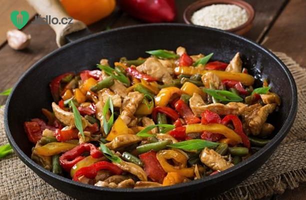 Kuřecí směs se zeleninou a rýží recept