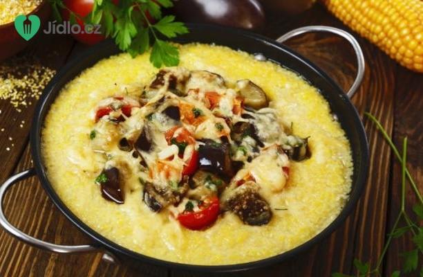Recept Kukuřičná polenta s lilkovou omáčkou