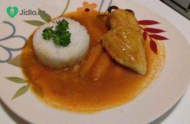 Kuřecí prsa v omáčce s mrkví a rýže Basmati recept