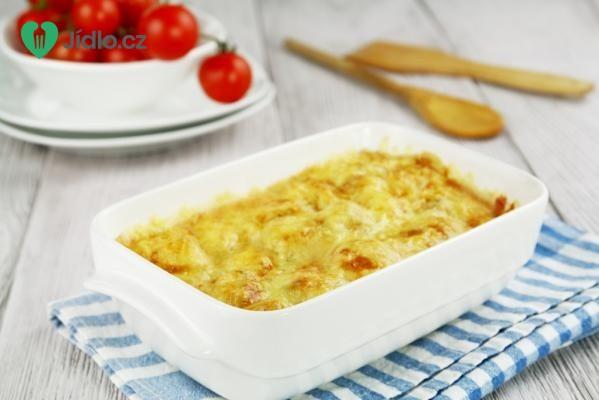 Květák zapečený se sýrem a klobásou recept