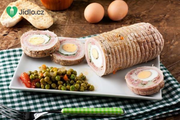 Masová hovězí roláda s vejci recept