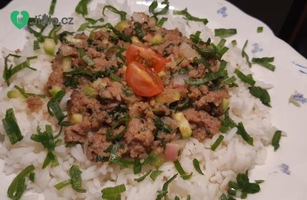 Mleté maso s rýží recept