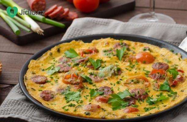 Omeleta s klobásou Chorizo recept