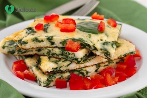 Omeleta se špenátem recept