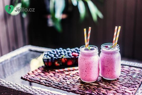 Ovocný jahodovo-borůvkový koktejl recept