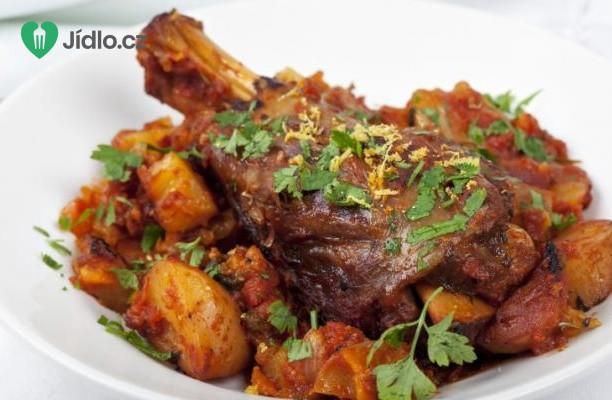 Pečené jehněčí s gratinovanými brambory recept