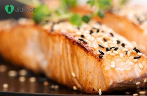 Pečený s losos se zázvorem recept