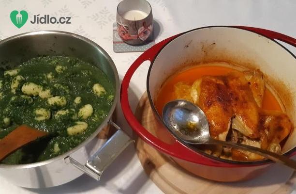Pečené kuře a gnocchi se špenátem recept