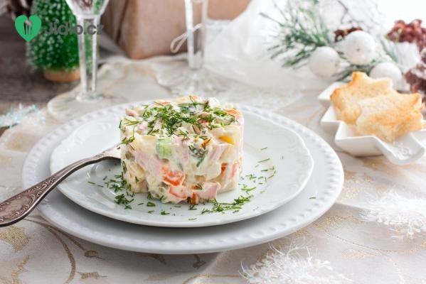 Pikantní salát s vejci recept