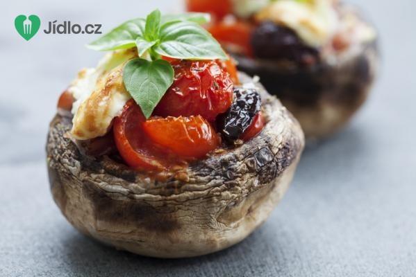 Plněné Portobello caprese recept