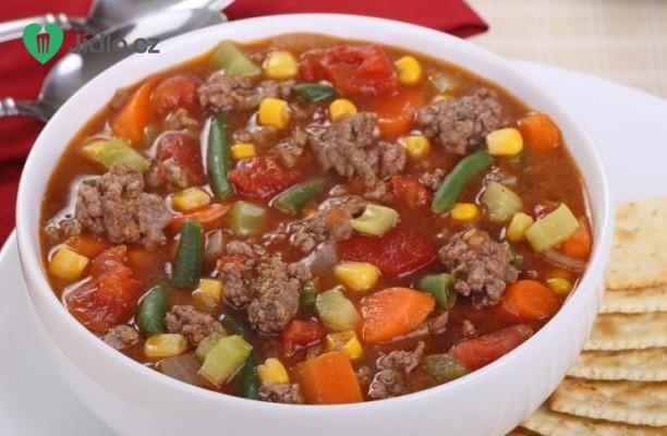 Polévka z mražené zeleniny recept