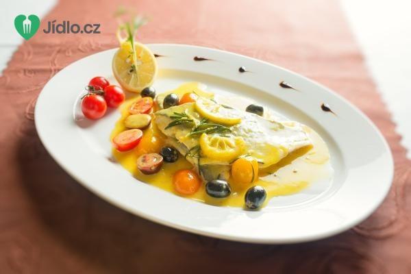 Pražma na citrónovej omáčke s olivami recept