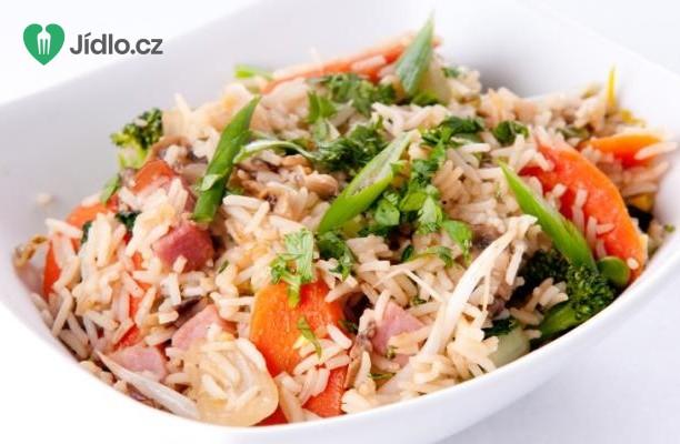 Rýže se šunkou a fazolemi recept