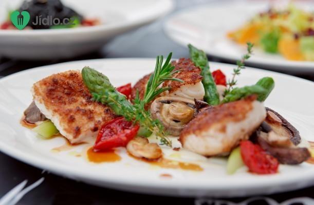 Rybí filé zapečené s houbami recept