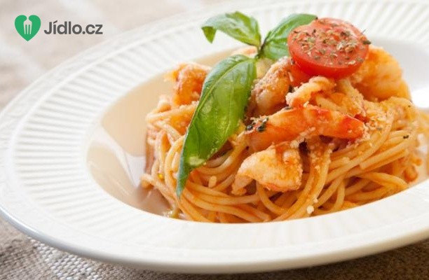 Recept Rychlé krevety se špagetami