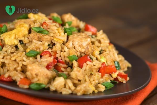 Rýže zapečená s kuřecím masem recept