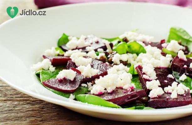 Salát z červené řepy s kozím sýrem recept