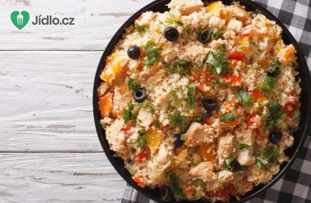 Recept Salát z kuskusu s kuřecím masem a zeleninou