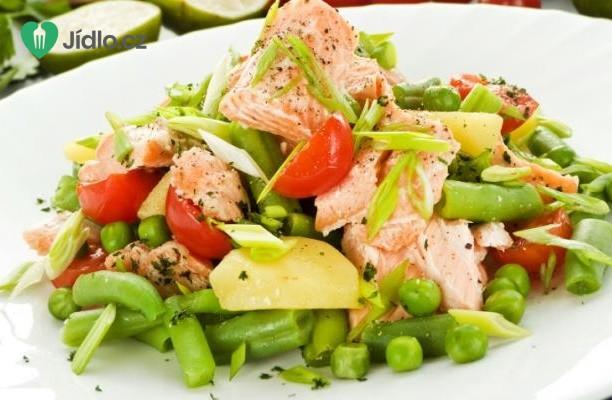 Recept Salát z uzeného lososa s chilli citronovým dresinkem