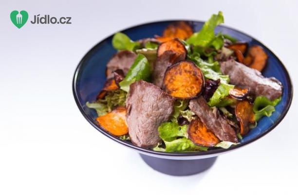 Steak s pečenými sladkými bramborami recept