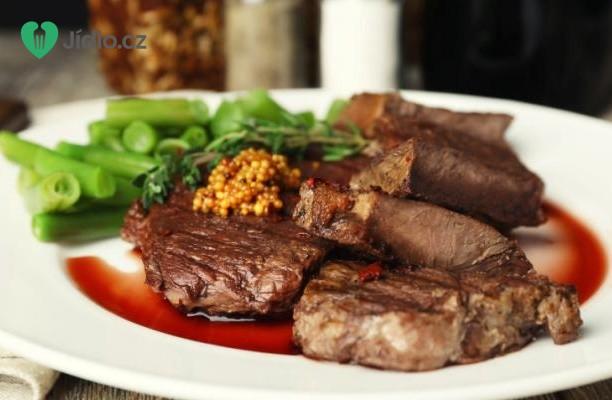 Steaky s  třešňovou omáčkou recept