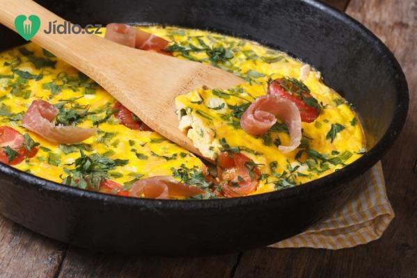 Šunková omeleta s hráškem recept