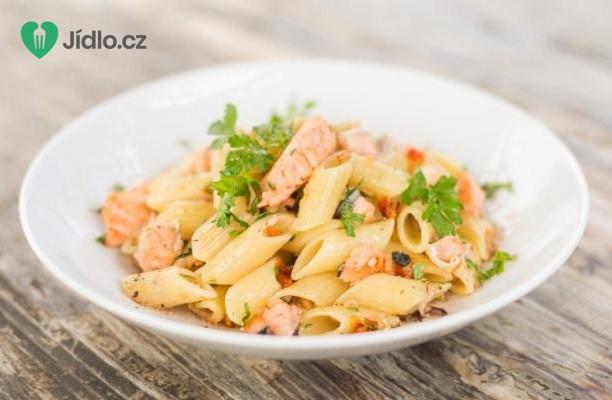 Těstoviny s lososem recept