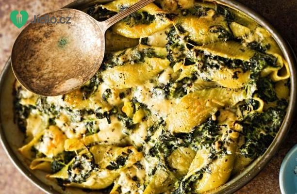 Těstoviny se špenátem a parmazánem recept
