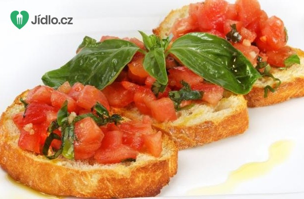 Tomatová bruschetta (brusketa) recept