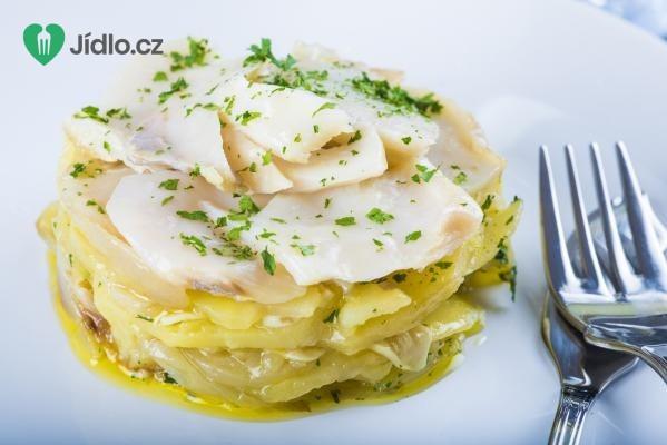 Treska zapečená s brambory recept