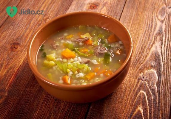 Uzená kroupová polévka recept