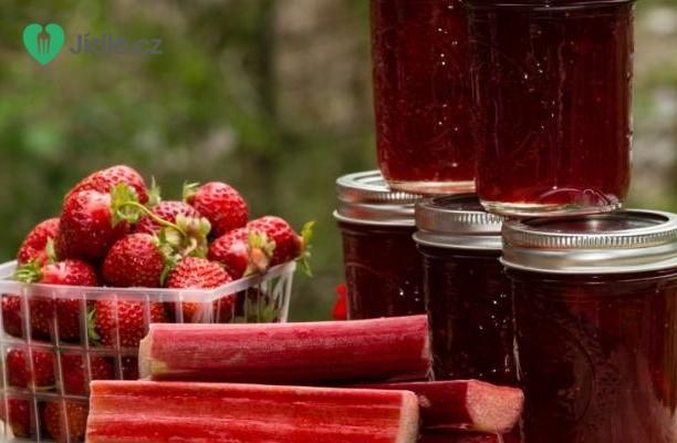 Recept Výborný džem z jahod a rebarbory