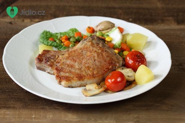 Vepřové kotlety na zelenině recept