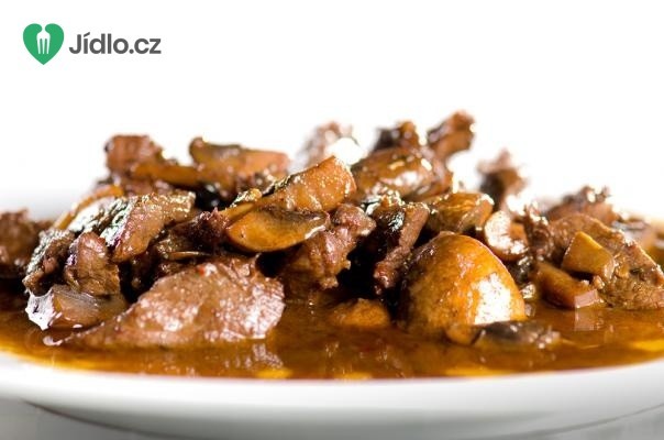 Vepřové maso v žampionech recept