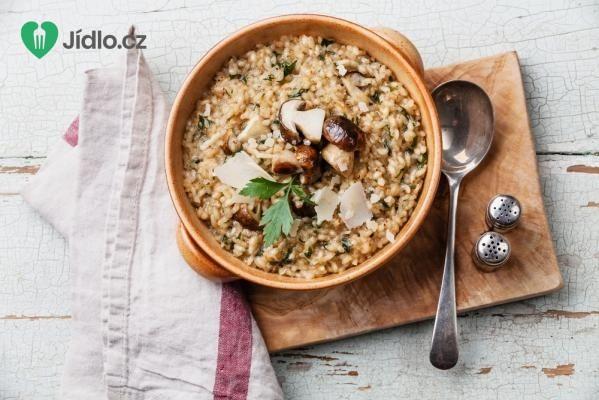 Žampiony na česneku s rýží recept
